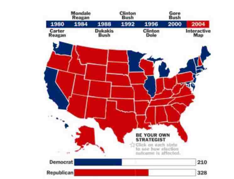 Rasmusen Weblog: Electoral College Map; Campaign Finance Reform